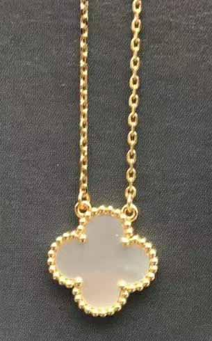 gold+white necklace