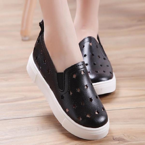 2019 NUEVOS niños grandes niñas zapatos casuales PU para zapatos transpirables juventud para hombre para mujer zapatos de gran tamaño 36-45 N9023