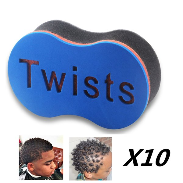 10pcs Magic Hair Twist Sponge Afro Coil Wave Hair Curl Sponge Brush Barber Tool Dread Afro Locs Brushes Salon Supply