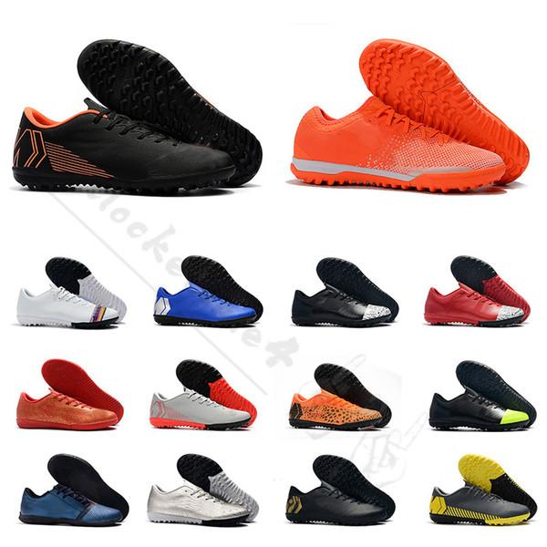 2019 scarpe da calcio indoor da uomo per donna Scarpe da calcio per bambini Mercurial Superfly X VI Academy arancioni grigio grano grigio oro taglia 35-45