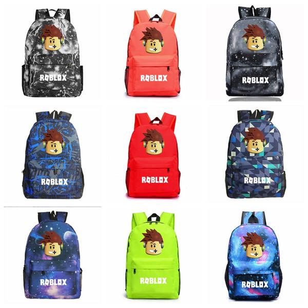 Juego caliente Roblox Student School Bags Moda Adolescentes Mochila Niños Regalo Bolsa de dibujos animados Oxford LaptopBag Juguetes para niños
