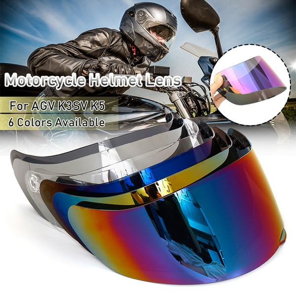 Motocicleta Wind Shield Helmet Lente Viseira Full Face Fit para AGV K1 K3SV K5