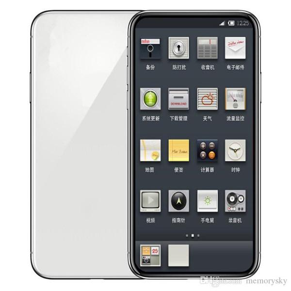 5.8inch Goophone X 1GB RAM 16GB ROM MTK6580 QuadCore 8MP FaceID Wireless Charge 3G WCDMA Andriod SmartPhone Sealed Box Fake 4G displayed