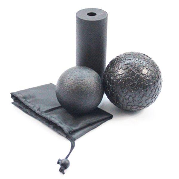 3 In1 Set Epp Hollow Yoga Columna Bloques de espuma Roller Masaje Bola de yoga Gimnasio Pilates Ejercicio Fitness Equipment con bolsa