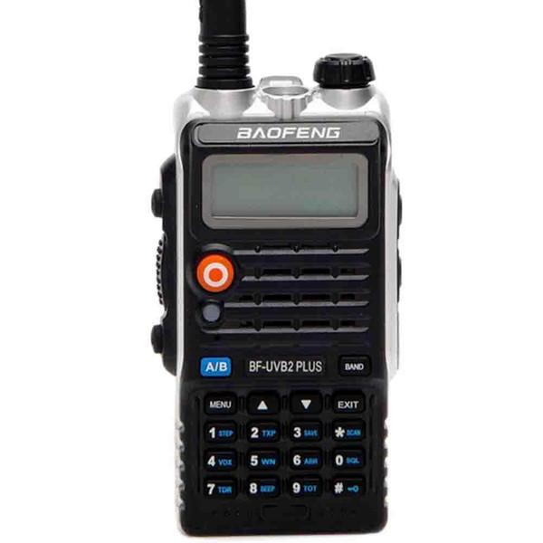 Baofeng BF-UVB2 Plus 8W LED de doble banda de radio de dos vías walkie talkie