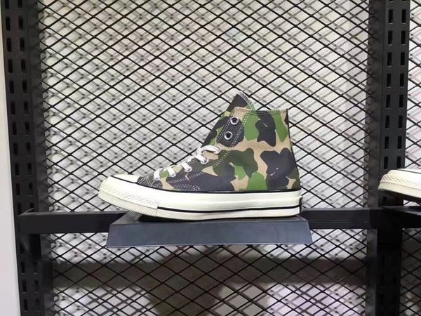 2018 limited edition camouflage casual shoes men's outdoor casual canvas shoes fashion trend street low help women's boots