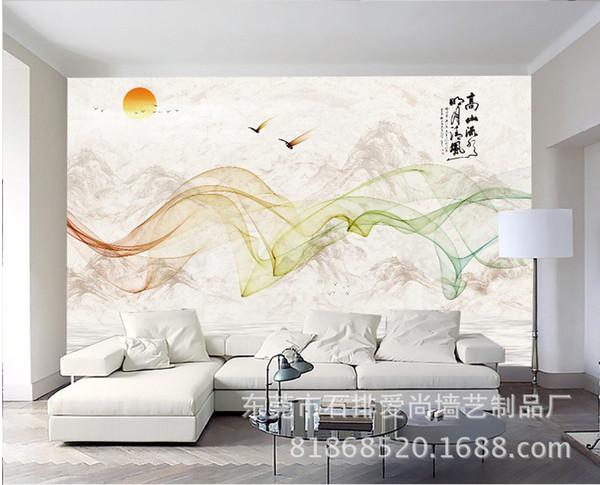papier peint mural personnalisé romantique beau fond de style chinois 3D pour chambre salon