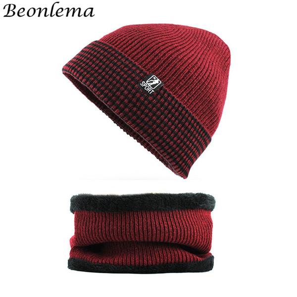 code promo 8205e d5856 Acheter Beonlema Hiver Bonnet Et Tube Écharpe Homme Plain Bonnet Femmes  Warm Velvet Hat Femme Hiver Daily Beanies De $21.91 Du Towork | DHgate.Com