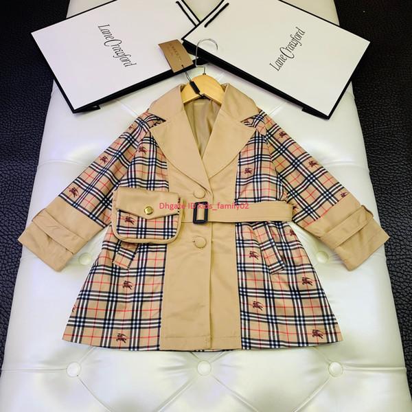 Çocuk rüzgarlık ceket Sonbahar moda çocuk tasarımcı giyim Erkek ve kız kırışıklık karşıtı kumaş rüzgarlık ceket astar pamuk