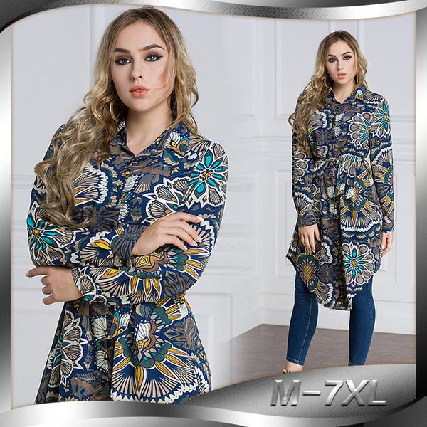 Chemisier musulman Haut femme Robe chemise Abaya Robe Style lâche Jubah Plus Taille Ramadan Arabe Dubaï Kaftan Islamique Vêtements