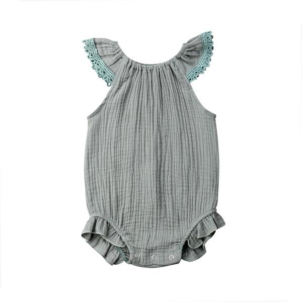 Tuta da neonato Pagliaccetto manica a maniche lunghe per bambina con manica a risvolto