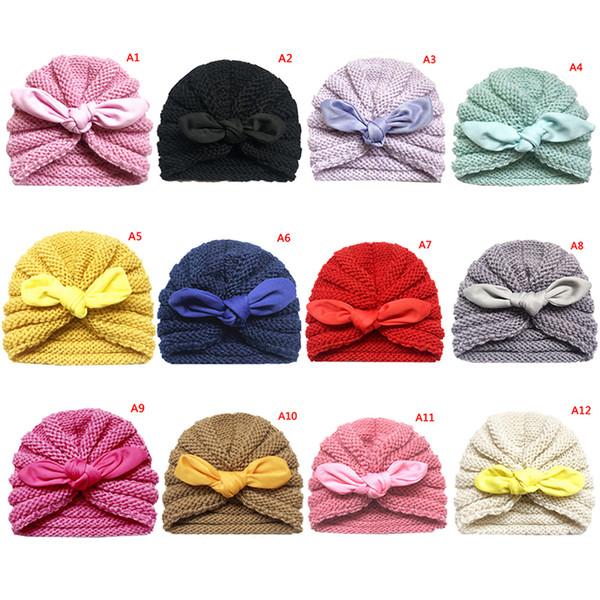Baby Hat Kids Knitted Cap Crochet Solid Children Beanies Boys Girls Hats Headwear Toddler Caps Accessories
