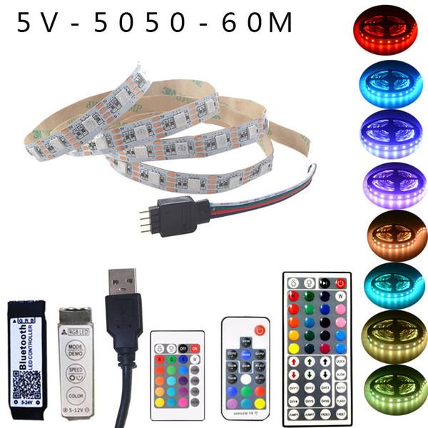 Bandes de LED RVB avec Bluetooth Banque de puissance de support de lampe de fond personnalisable USB TV personnalisable 0.2m