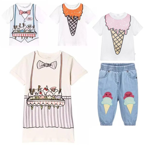 Enkelibb Toddler Kids Summer Clothing Ice Cream Pattern Clothes Children T Shirt For Boys And Girls Brand Design Kids Clothes Y19051003