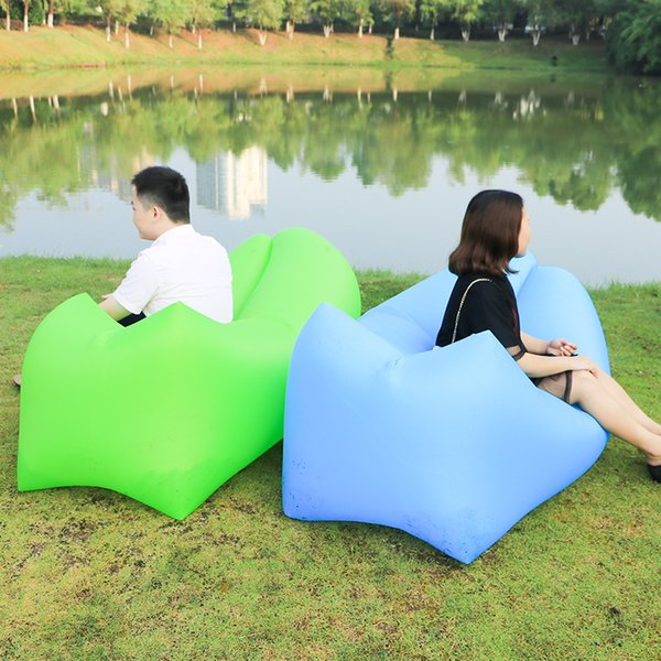 2018 outdoor products fast inflatable air bed inflatable sofa lazy bag air sofa lounger good quality chair sleeping bag laybag C18112601