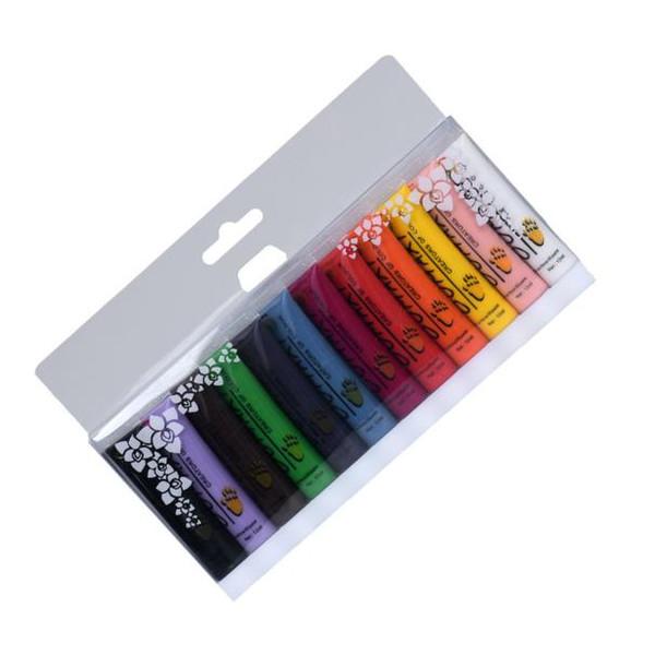 12 colori pittura acrilica 3D nail art vernice tubo disegnare nail art punta UV Ge Manicure vernice colore fiore 12 ml