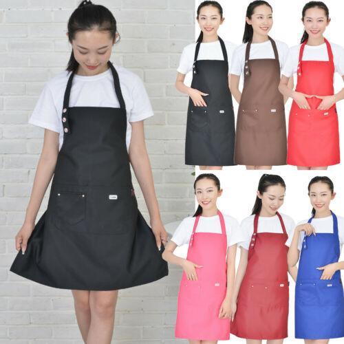 Deluxe Waterproof Waxed Adjustable Bib Apron Dress Men Women Kitchen Restaurant Chef Classic Cooking Tools