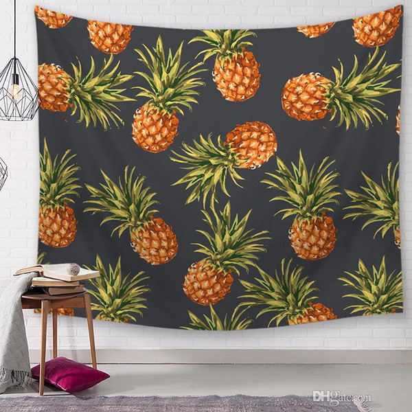 h and m home decor.htm pineapple series wall hanging tapestrie print plant characters  wall hanging tapestrie print plant