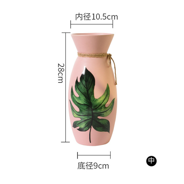 Small Pink Ceramic Vase for Flowers Waterfall Textured Elegant Design for Table Centerpieces Ideal Gift for Wedding Party Home Office Deco