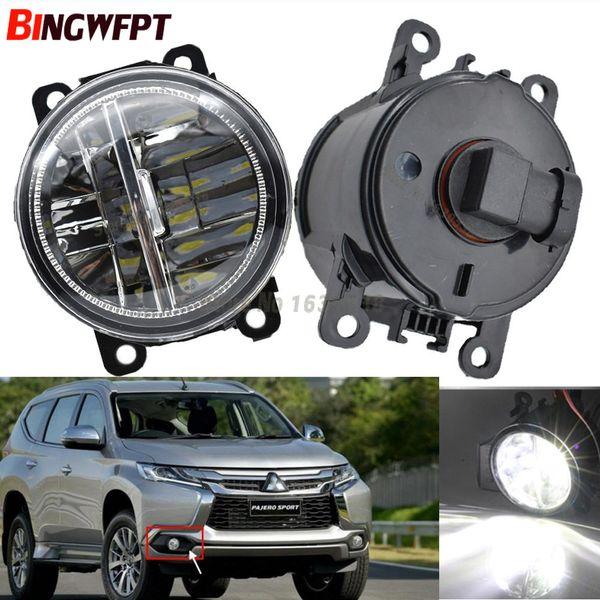 2 pezzi / paia Car Styling Paraurti tondo Lampade alogene 55W per Mitsubishi Pajero Sprot LED Fendinebbia H11