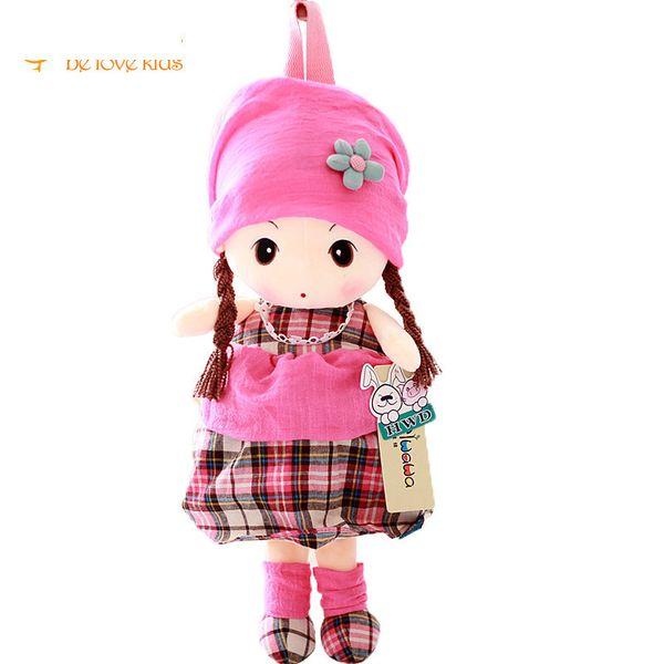 New Arrive Girls School Bags Cartoon Girls Plush Backpack For Girls Baby Kindergarten Bags For 1-3years Pt695
