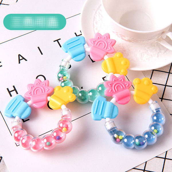 top popular 6 Style Silicone Teether Baby Pacifier toys Baby Teething rattle Newborn Nursing toy Teether Chewable Nursing Beads for Infant Baby B001 2020