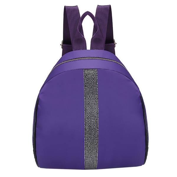 Xiniu Hot Sale Fashion Women Students Nylon Hit Color Shoulder Bag School Bag Tote Backpack School Bags for Teenage Girls