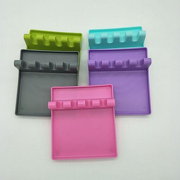 Ustensile support de couverture cuillère pelle pot étagère porte-Pan Couvercle étagère de cuisine Pot plasticTools Plateau de couleurs