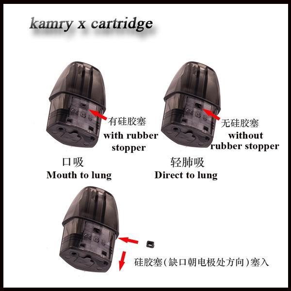 New kamry x Cartridges 2ml Ceramic Coil 1.4ohm for Kamry X Pod Kit E Cigarette Pod Built-in 650mAh DHL free shipping