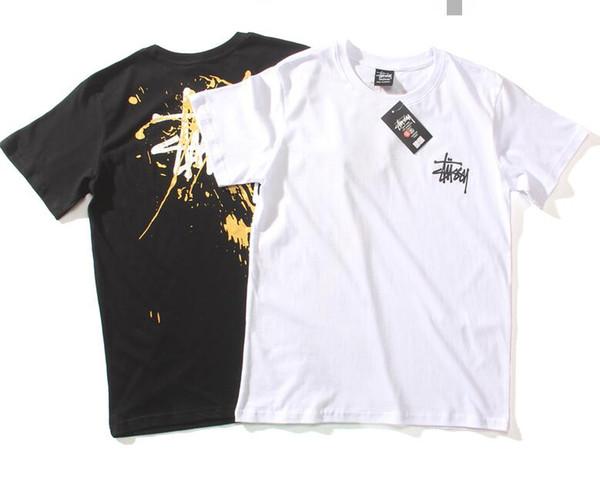 2019 men's round neck short-sleeved T-shirt fashion sports print design T-shirt simple wild men and women with the same sweatshirt
