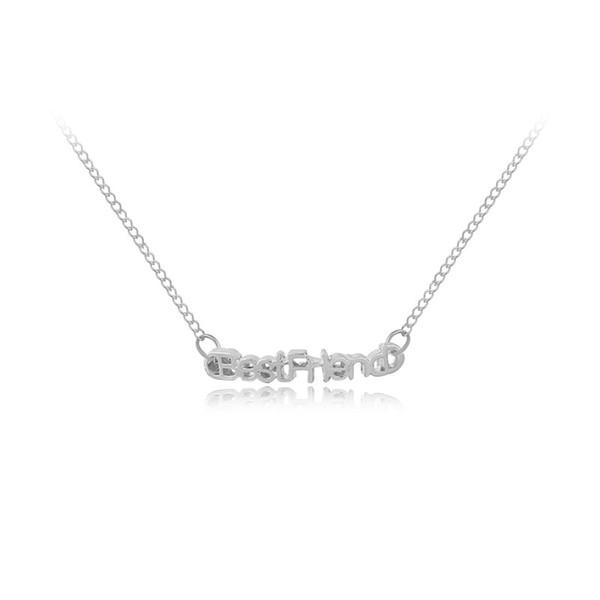 30 sorte carta melhor amigo amizade bom amigo namorada pingente de colar alfabeto inglês amor coração jesus colar de jóias