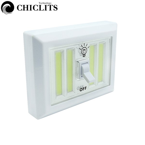 New CHICLITS Novelty COB Switch Led Wall Night Light Super Bright For Kids Kitchen Cabinet Garage Closet Camping Emergency Lamp