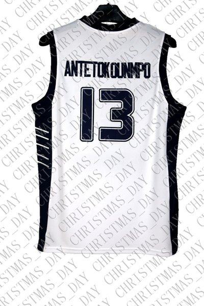 Cheap custom Antetokounmpo #13 Greece Hellas Sewn White Basketball Jersey Stitched Customize any name number MEN WOMEN YOUTH JERSEY XS-5XL