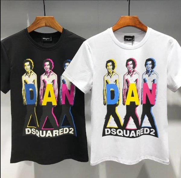 D2 T-shirts For Man Women New Arrival Designer Tops High Quality Men's Clothing T-Shirts D2 Print Fashion Tees
