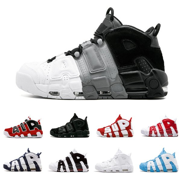 2020 Varsity Red Air more 96 QS Olympic Mens Basketball Shoes black gold SUP Airs 3M Scottie Pippen Uptempo men women Sports Sneakers