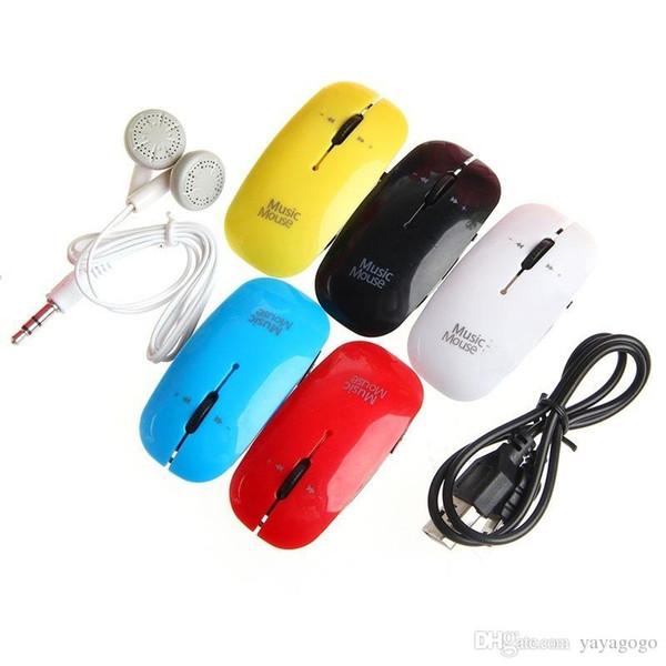 En gros Mini souris USBE336 Lecteur MP3 3.5mm Prise en charge 32 Go Micro SD Carte TF Musique Media ORC