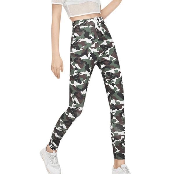 Kadınlar rahat kamuflaj yoga pantolon kalem cep pantolon tayt spor kadınlar spor salonu legging dikişsiz sportwear 2019 # 937358