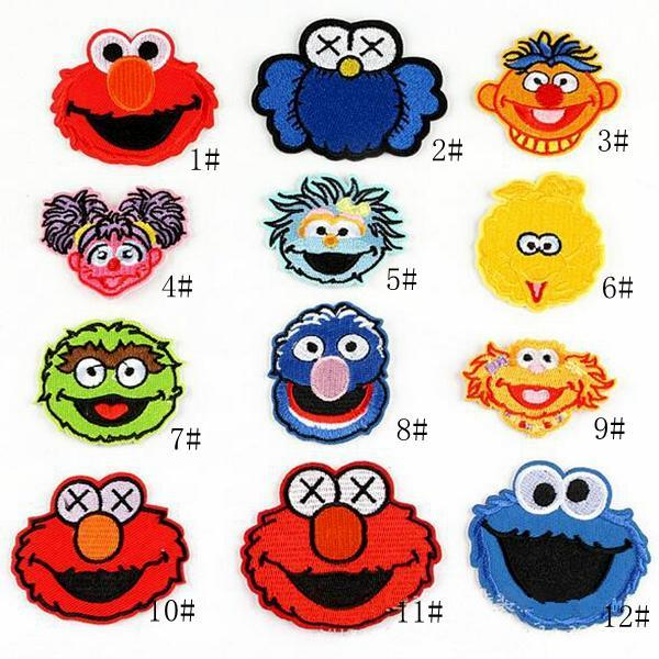 8P-25 Hot sale Sesame Street embroidered patches iron on patch Armband skull Army patch for jacket/cap accessories