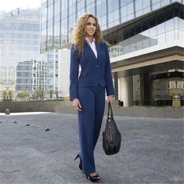 Now popular new solid color fashion ladies suit two-piece suit (jacket + pants) ladies business formal professional custom
