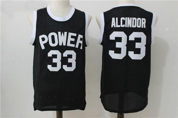 custom #33 Lew Alcindor Jr Kareem Abdul Jabbar Power High School Basketball Jersey Stitched Customize any number name MEN WOMEN YOUTH XS-5XL