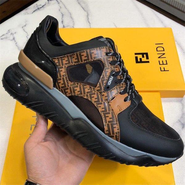 Italian Fashion Designer di lusso Scarpe Uomo Multicolor Low-tops Panel Chunky Sole Sneaker Man Fancy Monogram Runner Sneakers Box
