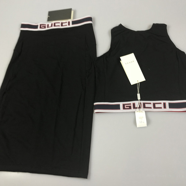 Mode schwarze frauen trainingsanzug set marke baumwolle mädchen yoga set weiche atmungsaktive fitness tragen hohe taille weibliche yoga röcke outfits set
