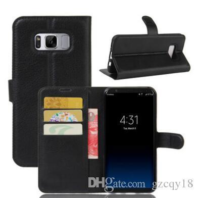 Custodia a portafoglio in pelle flip per Samsung Note9 S8 S9 Plus Custodia a telefono cellulare S8 S7 S6 Edge con porta carte di credito Custodia Luxury Designer
