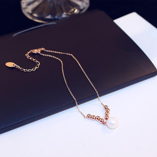 Agood hohe Qualität Roségold Fußkette für Frauen kurze Nachahmung Perle Perlen Fuß Kette sexy Modeschmuck Zubehör