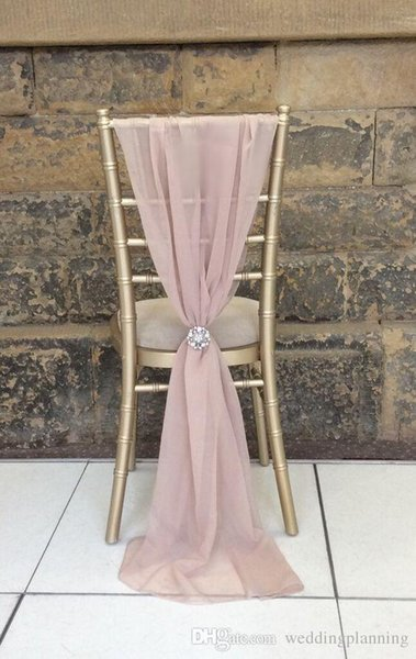 Enable Destop Garden Formal Wedding Chair Cover Back Sashes Romantic Oceanfront Flower Banquet Decor Bow Christmas Birthday Chair Sashes
