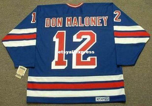 Personalizado Mens DON MALONEY Nova Iorque Rangers 1979 CCM Jerseys Do Vintage Fora Barato Retro Hóquei Jersey