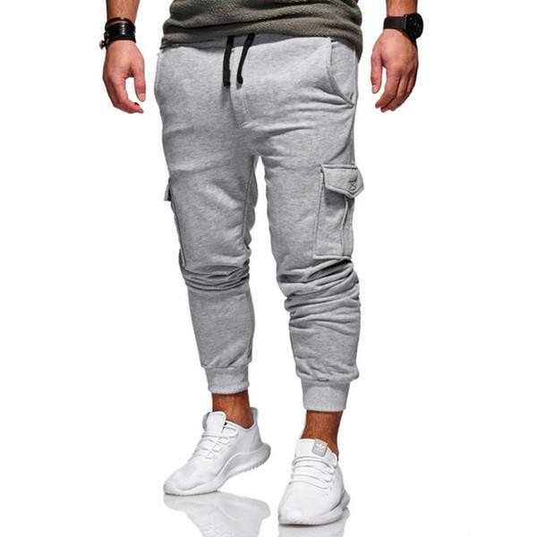 New Men/'s Slim Fit Urban Straight Leg Trousers Casual Pencil Jogger Cargo Pa BB