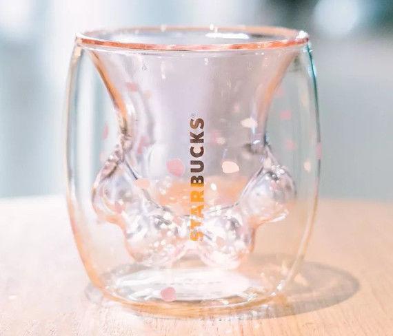 wholesale Starbucks Cat Paw Mug Cat-claw Coffee Mug 2019 Starbucks Limited Eeition Cat Foot Cup Toys Sakura 6oz Pink Double Wall Glass Mug