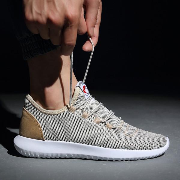Acheter Hommes Chaussures De Course 2019 Mode Hommes Sneakers Plus La Taille Chaussures De Sport Pour Light Mesh D'été Homme Chaussure Homme Sport 48