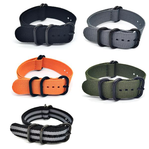 Mode de vente chaude Allongé Suunto Core Nylon Bracelet Bande Kit w Lugs Adapters 24mm Zulu Watchbands nylon smart bracelet pour hommes